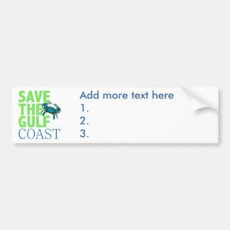 Save the Gulf Coast Car Bumper Sticker