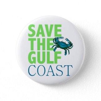 Save the Gulf Coast button button