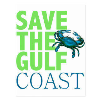 Save the Gulf Coast post card