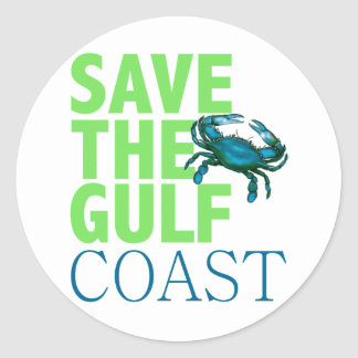 Save the Gulf Coast round stickers