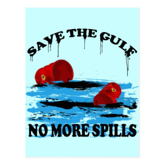 SAVE THE GULF NO MORE SPILLS POSTCARD