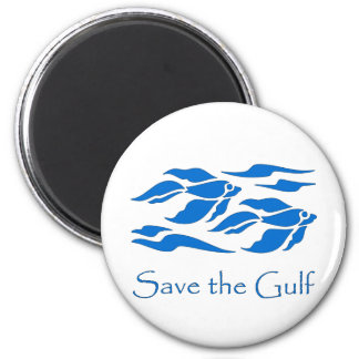 Save The Gulf - School of Fish 2 Inch Round Magnet