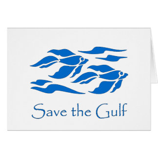 Save The Gulf - School of Fish Greeting Card