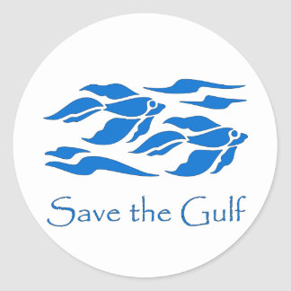 Save The Gulf - School of Fish Classic Round Sticker