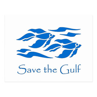 Save The Gulf - School of Fish Postcard