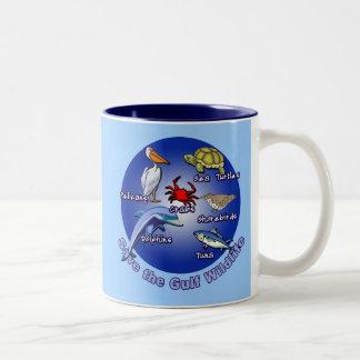 Save the Gulf Wildlife Tshirts Two-Tone Coffee Mug