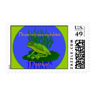 Save the habitat Frog Postage