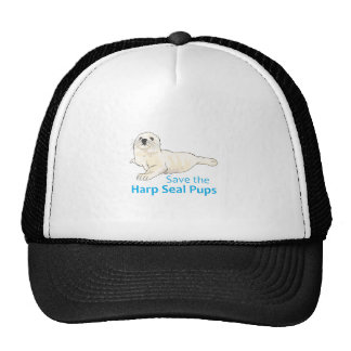 SAVE THE HARP SEAL PUPS TRUCKER HAT
