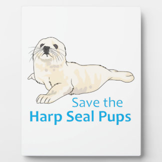SAVE THE HARP SEAL PUPS DISPLAY PLAQUE