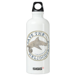 Save the Heliocoprion Aluminum Water Bottle