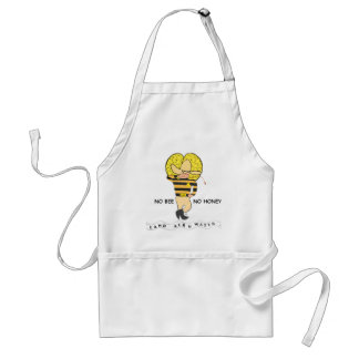 Save the Honey Bee Logo Adult Apron