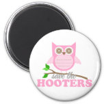 Save the Hooters 2 Inch Round Magnet