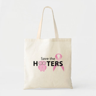 Save the hooters breast cancer awareness bag