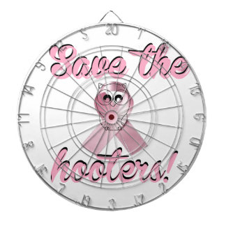 Save the hooters, breast cancer awareness dartboard