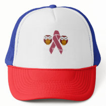 Save The Hooters Breast Cancer Owls Trucker Hat