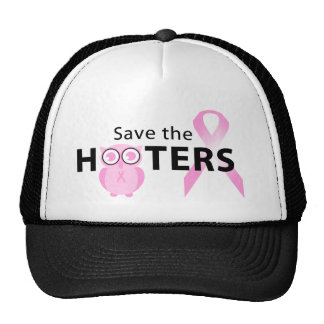 Save the hooters breast cancer support hat