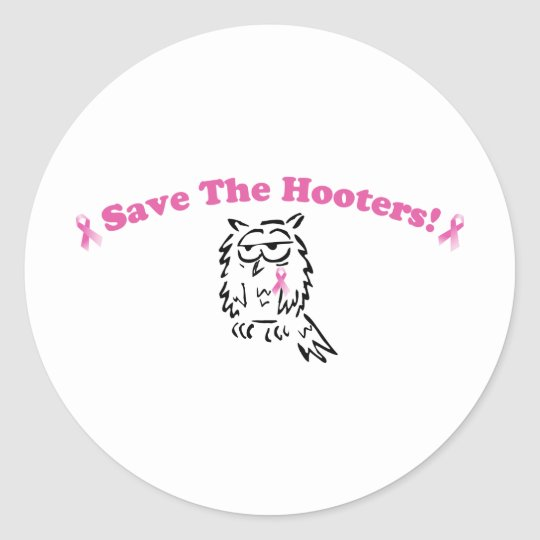 Save The Hooters Classic Round Sticker