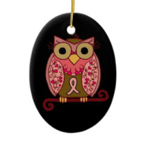 Save The Hooters Owl Ceramic Ornament