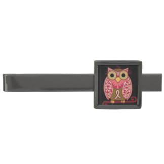 Save The Hooters Owl Gunmetal Finish Tie Clip