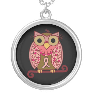 Save The Hooters Owl! Round Pendant Necklace