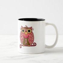 Save The Hooters Owl Two-Tone Coffee Mug