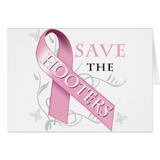 Save The Hooters (ribbon).png Greeting Card