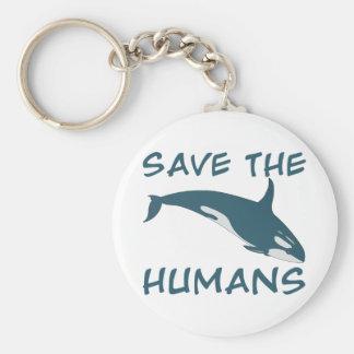 Save the Humans Basic Round Button Keychain