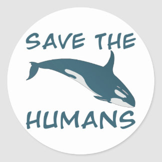 Save the Humans Classic Round Sticker