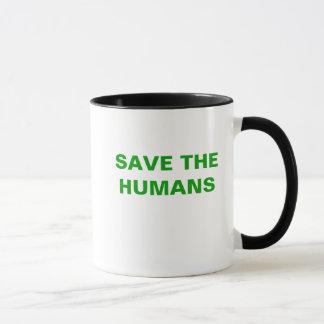 SAVE THE HUMANS MUG