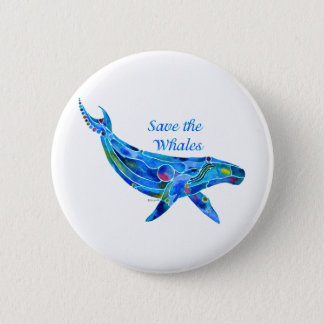 Save the Humpback Whale Button