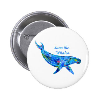 Save the Humpback Whale Pinback Button
