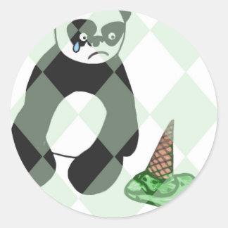 Save the Ice-cream! Round Stickers