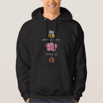 Save the Insects Cute Bee Butterfly and Bug Care Hoodie
