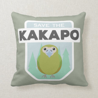 Save the kakapo home throw pillow