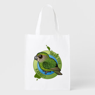 Save the Kakapo Reusable Grocery Bag
