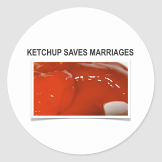 Save the Ketchup Round Stickers