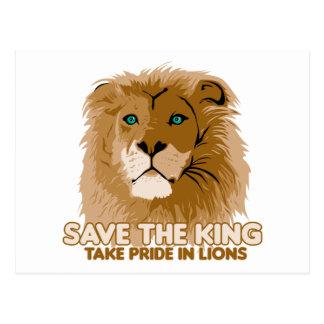 Save The King Postcard