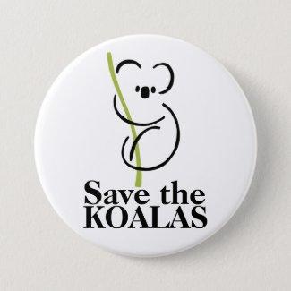 Save the Koalas Button