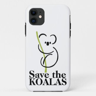 Save the Koalas iPhone case