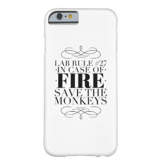 Save the lab monkeys barely there iPhone 6 case