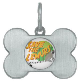 Save the Lemurs Pet Name Tag