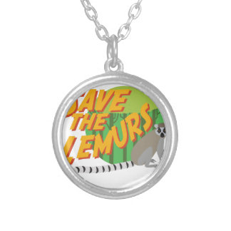 Save the Lemurs Silver Plated Necklace
