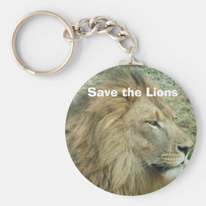 Save the Lions Keychain