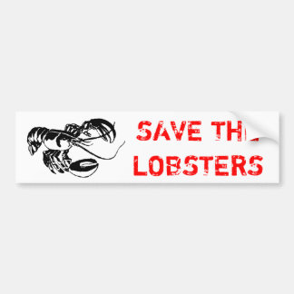 SAVE THE LOBSTERS CAR BUMPER STICKER
