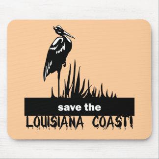Save the Louisiana coast Mouse Pad