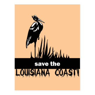 Save the Louisiana coast Postcard
