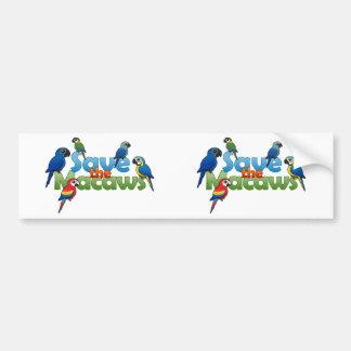 Save the Macaws Bumper Sticker