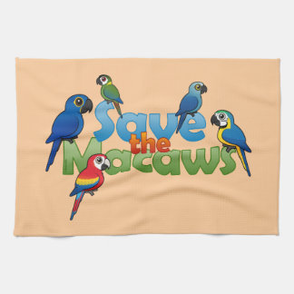 Save the Macaws Hand Towels