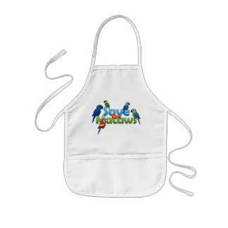 Save the Macaws Kids' Apron