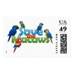 Save the Macaws Postage Stamp